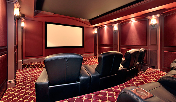 home theater custom design and installation quadriom son et image. Black Bedroom Furniture Sets. Home Design Ideas